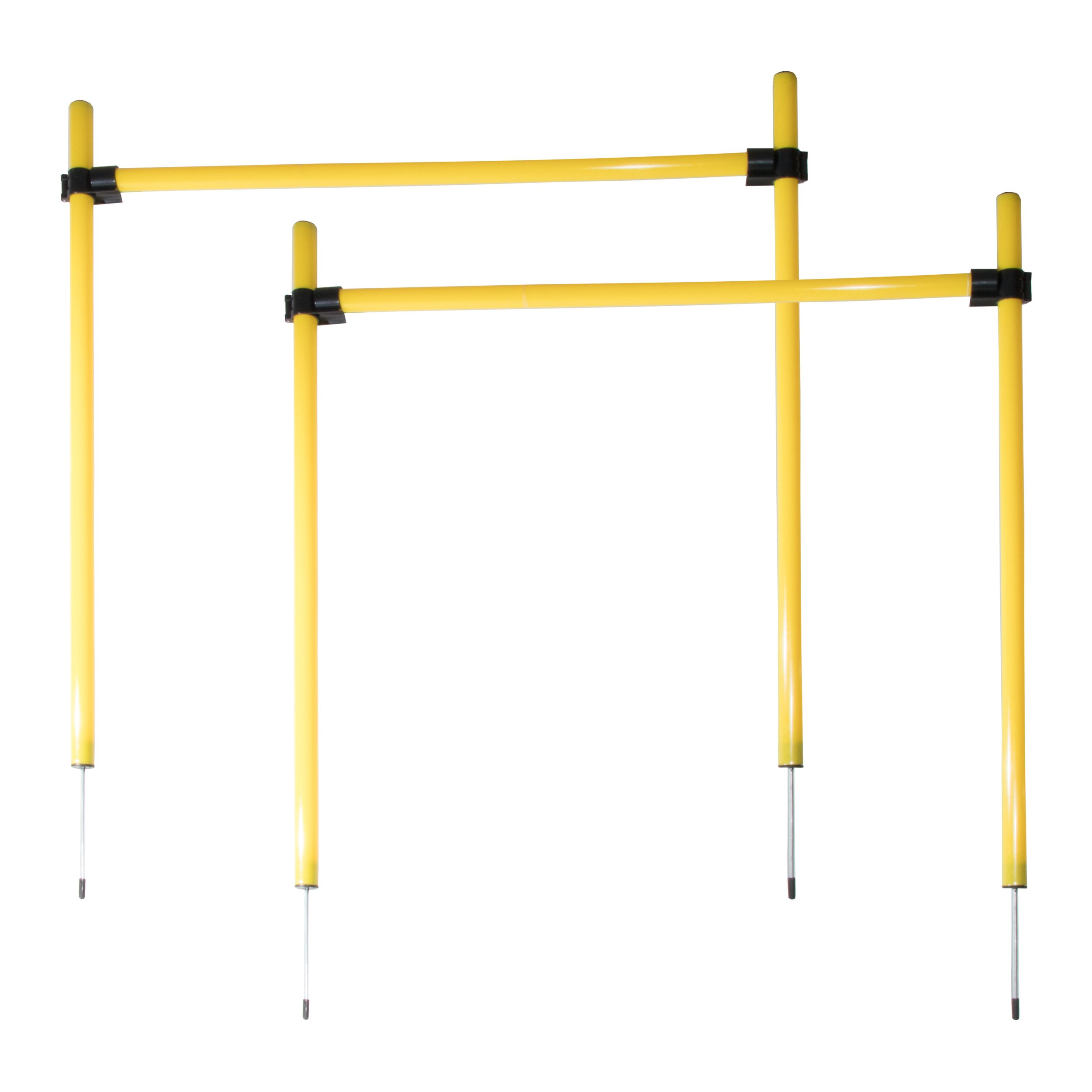 Pet Life TR2DG Jumping Hurdle Outdoor Performance Agility Pet Dog Training Kit, One Size, Green and Yellow by Pet Life