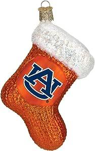 Amazon.com: Old World Christmas Auburn University Glass ...