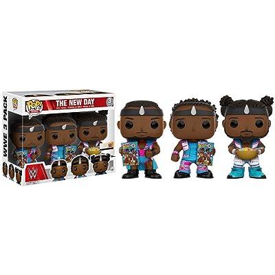 Funko POP! Big E Xaviers Woods Kofi Kingston WWE Exclusive New Day 3 Pack: Toys & Games