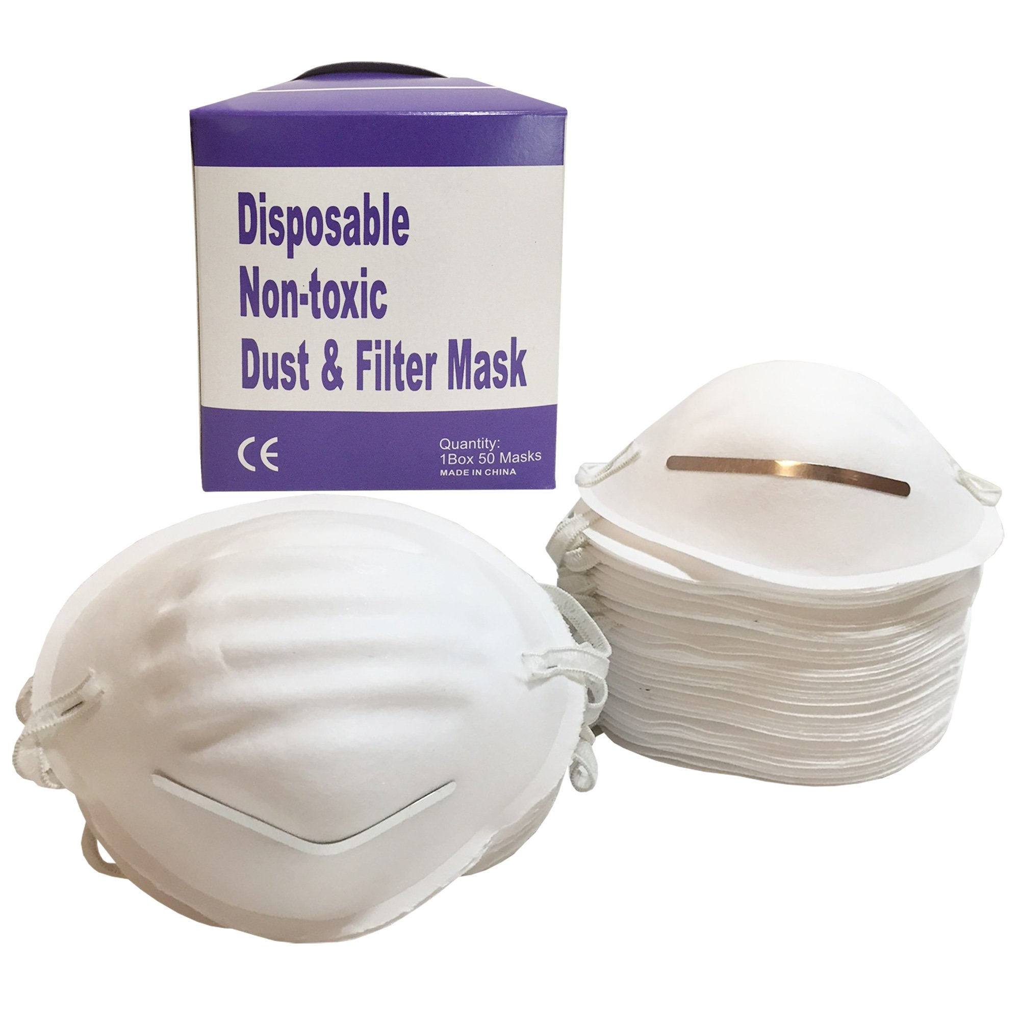 Mama Jo's Disposable Dust Masks - All Purpose Filter Painting Mask for Work, Gardening, Home and Outdoor Projects - Universal Fit (50 - Anti Dust Mask)