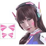 Overwatch D.Va Cosplay Face Temporary Tattoos - 2 Sizes