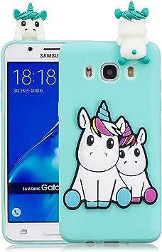 Funluna Funda Samsung Galaxy J7 2016, 3D Unicornio Patrón Cover ...