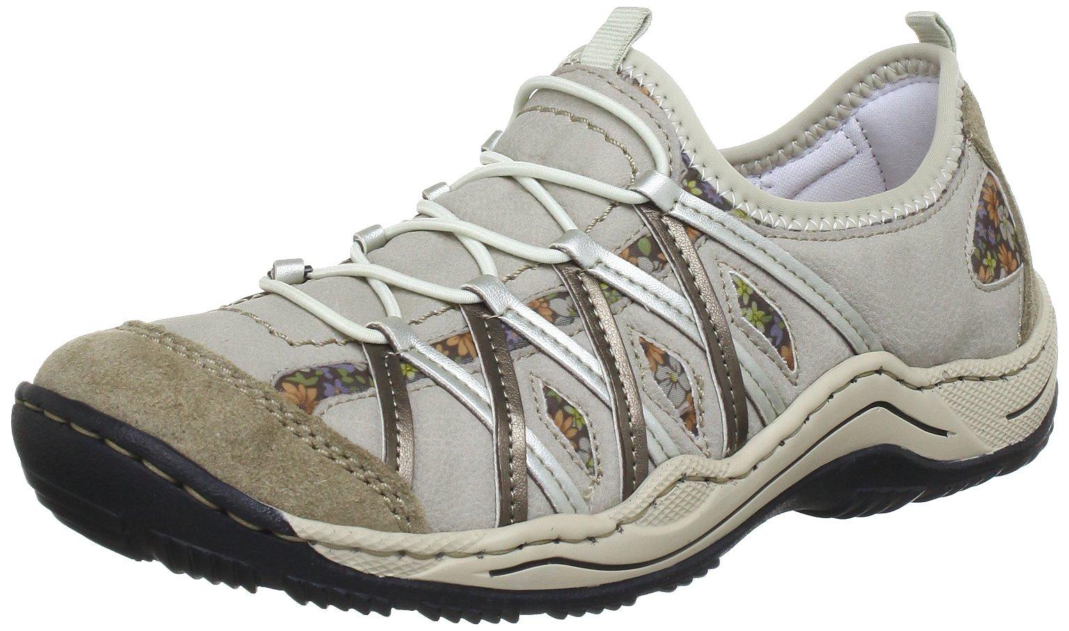 Rieker Women's Boots Klettschuhe Sympatex Amethyst Viol Beige VelourSynthetikTextil Snow Sneakers 39
