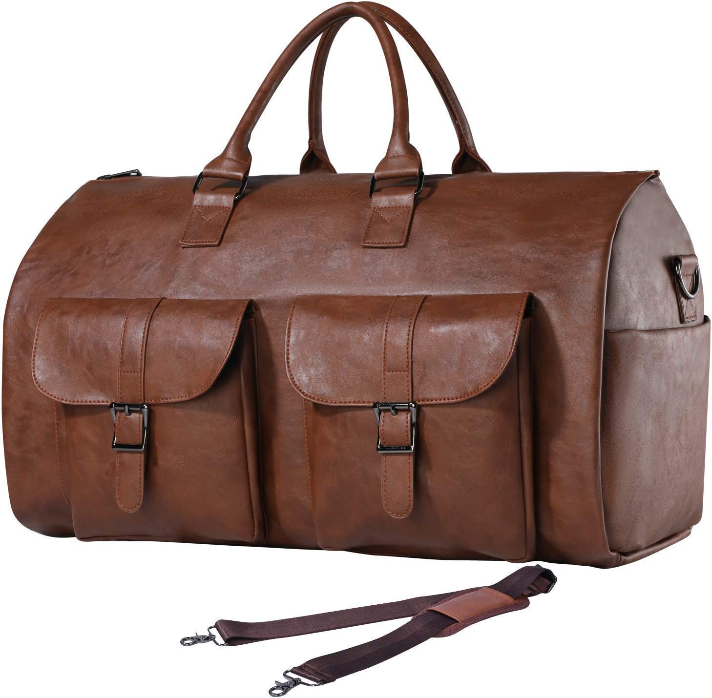 50-Inch Length Accommodates Suits /& Business Attire Swiss Gear Folding Carry On Garment Bag with Pockets Black One Size