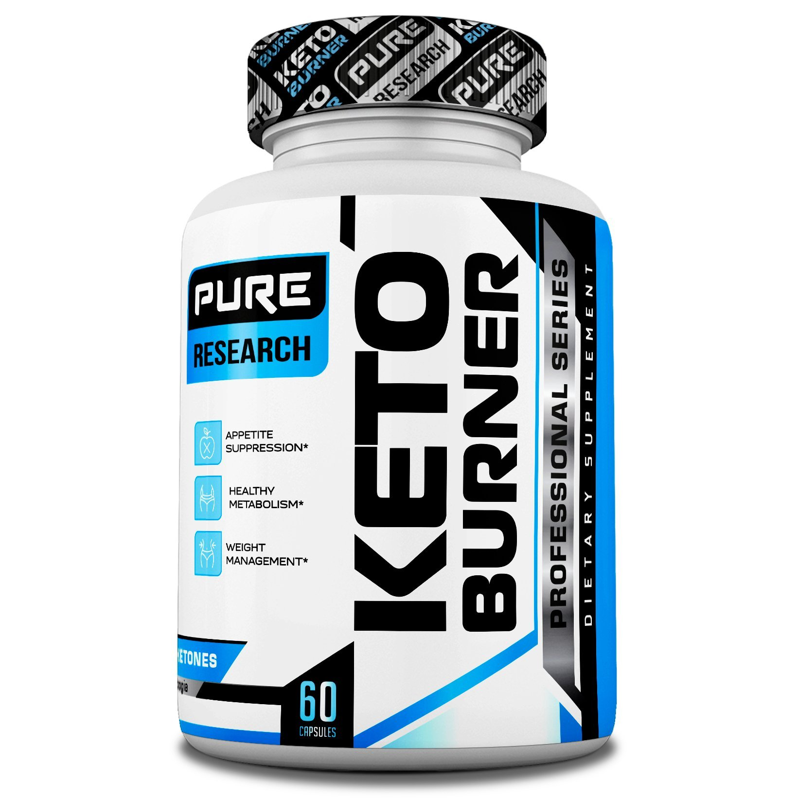 Keto Burner Weight Loss Pills for Women and Men, Burn More Calories & Block Carbs, Increase Your Energy, All Natural, 60 Veggie Caps by Pure Research