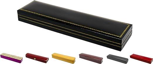 Novel Box Jewelry Bracelet Box in Black Leather + Custom NB Pouch