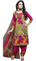 Great Indian Festival Dress Materials for women Designer Party Wear Today Offer Low Price Sale Top Pink Color Faux Cotton Fabric Free Size Salwar Suit