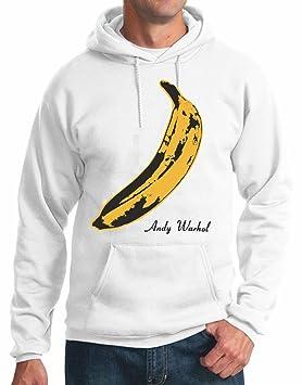Sudadera con Capucha Banana Velvet Andy Warhol S M L XL XXL Camiseta by tshirteria, Bianco, S: Amazon.es: Deportes y aire libre