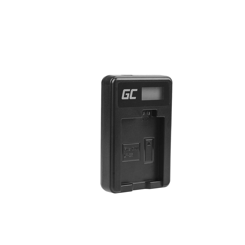 5W 8.4V 0.6A Negro X2 Green Cell/® CBC-E5 LC-E5 Cargador para Canon LP-E5 Bater/ía y EOS 450D Rebel T1i 500D Kiss F XSi C/ámaras X3 1000D XS