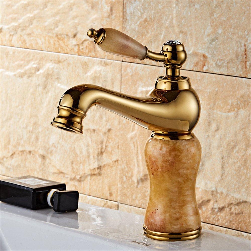 MMYNL Kupfer schnell heißen und kalten Mixer öffnen Wasserhahn Bad Armatur Waschtischmischer