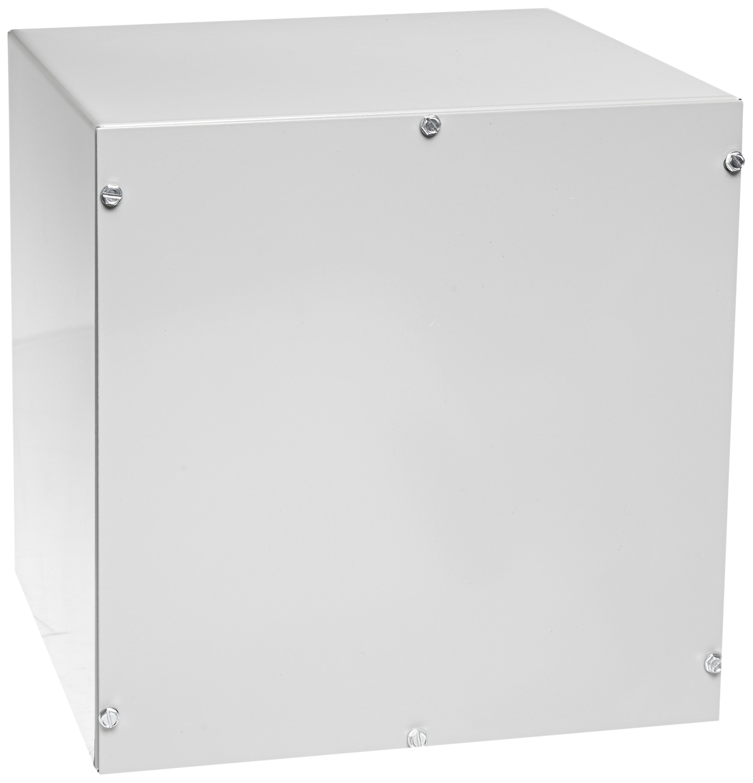 BUD Industries CU-880 Steel Utility Cabinet, 10'' Width x 10'' Height x 8'' Depth, Natural Finish