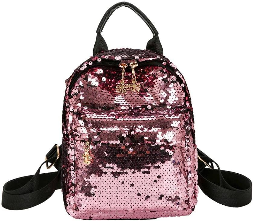 Inkach Womens Backpack Purse ❤️ Fashion Shinning Sequins Mini School Bags Rucksack Travel Satchel Daypack