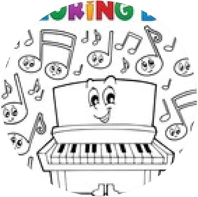 alfombrilla de ratón imagen para colorear tema musical libro ...