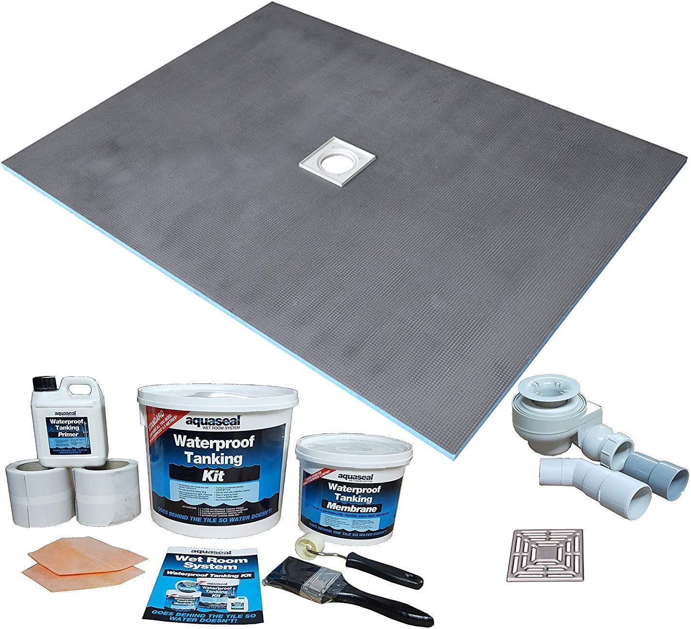 Nassboards Wetroom Shower Tray & Aqua Kit