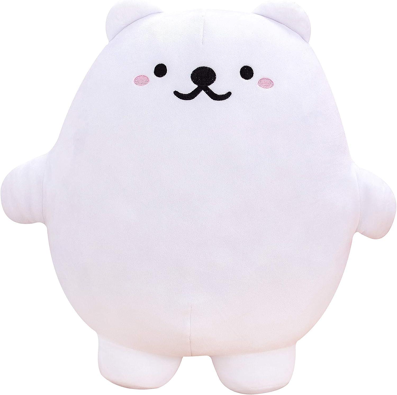 Plush Polar Bear, squeezable Soft Polar Bear, Stuffed Animal Polar Bear, Large Polar Bear plushie, Anime Plushy Soft Cushion, Huggable, Perfect for Cuddling, Stress Relief, Concentration