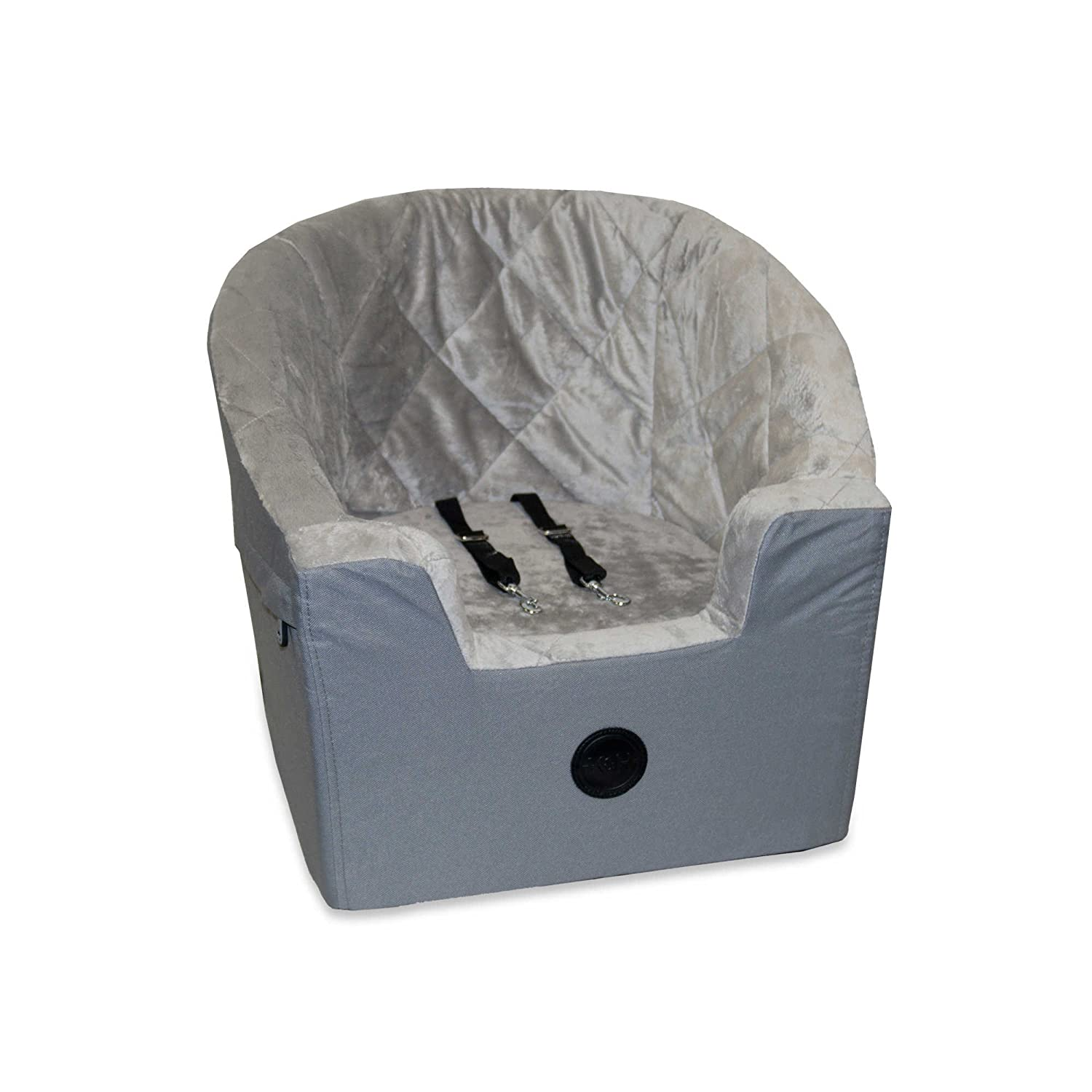 K& H Bucket Booster Small Pet Car Seat in Grey