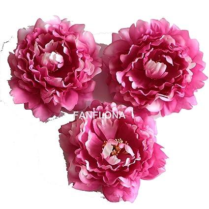 Amazon fanflona wholesale silk flowers artificial peony flower fanflona wholesale silk flowers artificial peony flower heads 100 bulk for wedding backdrop centerpieces cake topper mightylinksfo