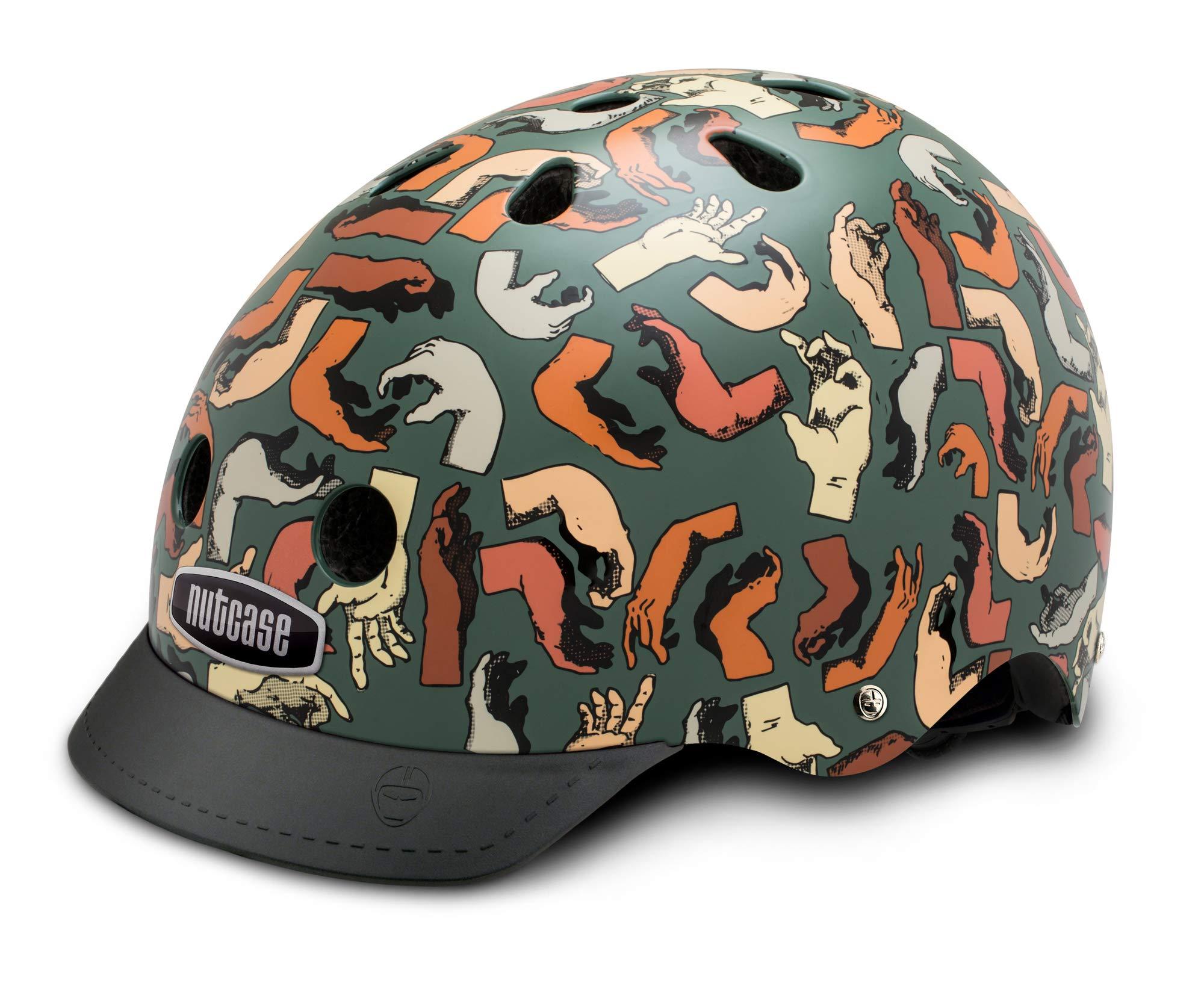Nutcase - Patterned Street Bike Helmet for Adults, Handy Medley, Medium