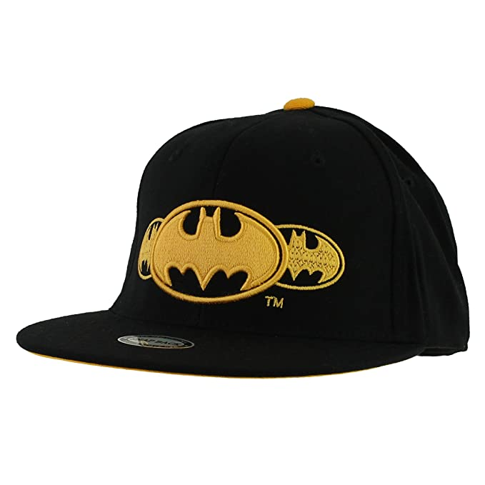 070147506 Morehats Batman Superhero Snapback Baseball Cap Hip-hop Flat Bill Hat -  Black