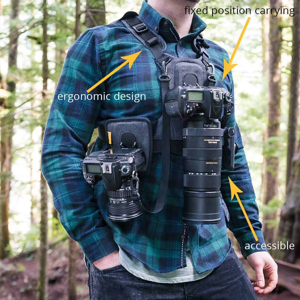 Cotton Carrier G3 Dual Camera Harness for 2 Camera's Gray by Cotton (Image #4)