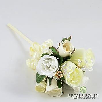 Seide Hochzeit Blumen Handarbeit von Petals Polly, Flower Girl ...