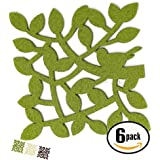 Dulce Cocina Twigs Coasters (Green) Set of 6 Large Size - Good Absorbent For Drinks