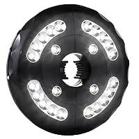 AMIR Lampes pour Parasol, 24 LED Sans Fil Lampes, 3xAA Battery Operated, Extérieure/Intérieure, Parasol de Jardin, ou Tentes de Camping(noir)