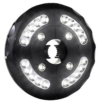 Amir Patio Umbrella Light Cordless 24 Led Night Lights 12 000 Lux