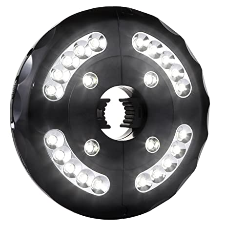 AMIR Patio Umbrella Light, Cordless 24 LED Night Lights, 12,000 Lux Umbrella  LED Light