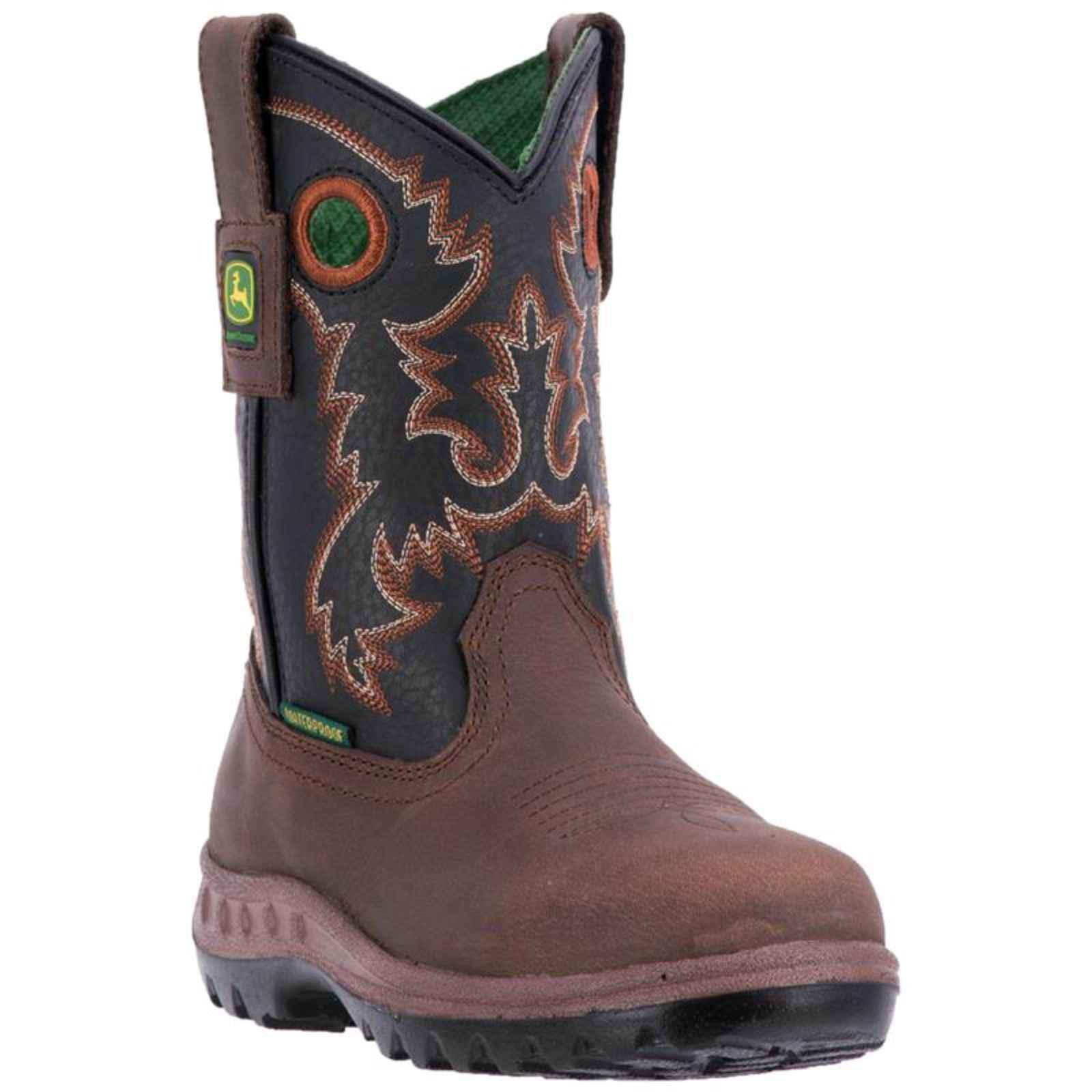 John Deere Baby Jd3410 Western Boot, Brown, 5 Medium US Big Kid
