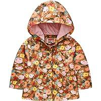 Sunnymi - Abrigo con capucha para bebé, niño y niña, 1 – 5 años, para otoño, exterior, chaqueta con cremallera…