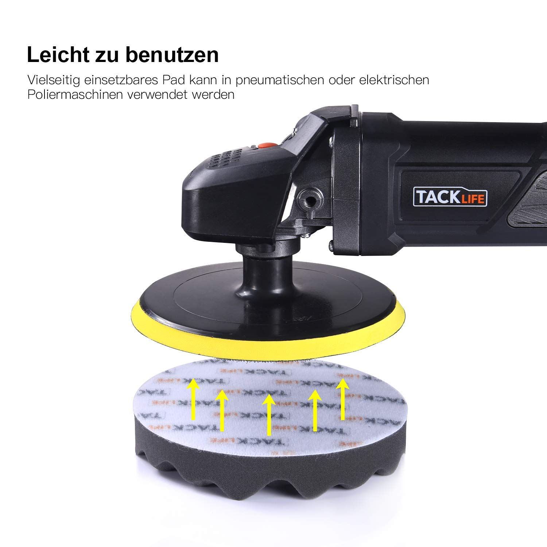 Tacklife 1500W Polierer mit Variable Geschwindigkeit 180mm Polierteller//polieren Pad//Wollscheibe Poliermaschine LED-Display D-Griff//Zusatzhandgriff geeignet//PPGJ01A