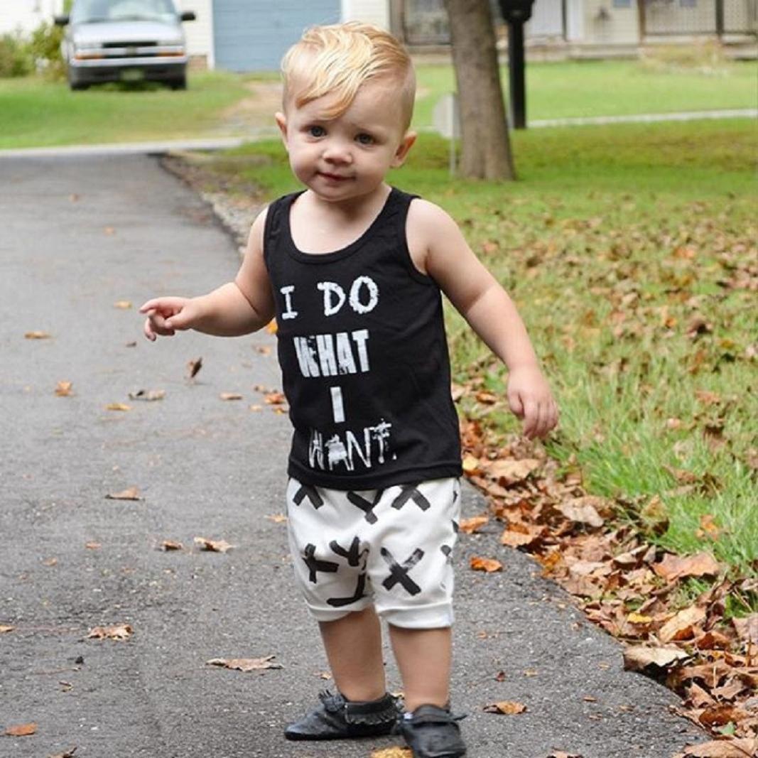 Amazon Com Feitong 1set Newborn Baby Boy Black T Shirt Tops White