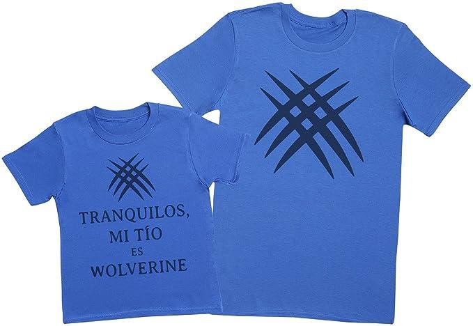 Zarlivia Clothing Tranquilos Mi Tío ES Wolverine - Regalo para Padres e Hijos - Camiseta de Niño y Camiseta de Hombre: Amazon.es: Ropa y accesorios