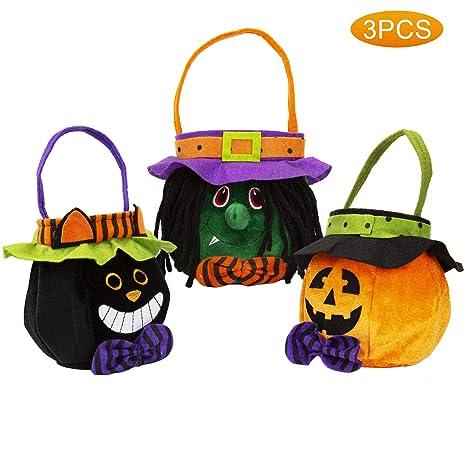 LUTER 3 Paquetes Truco de Halloween o Bolsas de Tratamiento ...