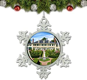 Umsufa Manchester Lincoln Home Vermont USA Christmas Ornament Tree Decoration Crystal Metal Souvenir Gift