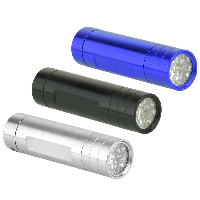 Neiko 40440 LED Pocket Sized Flashlight, 3 Pack | Ultra Bright | Heavy Duty Aluminum Body | Waterproof