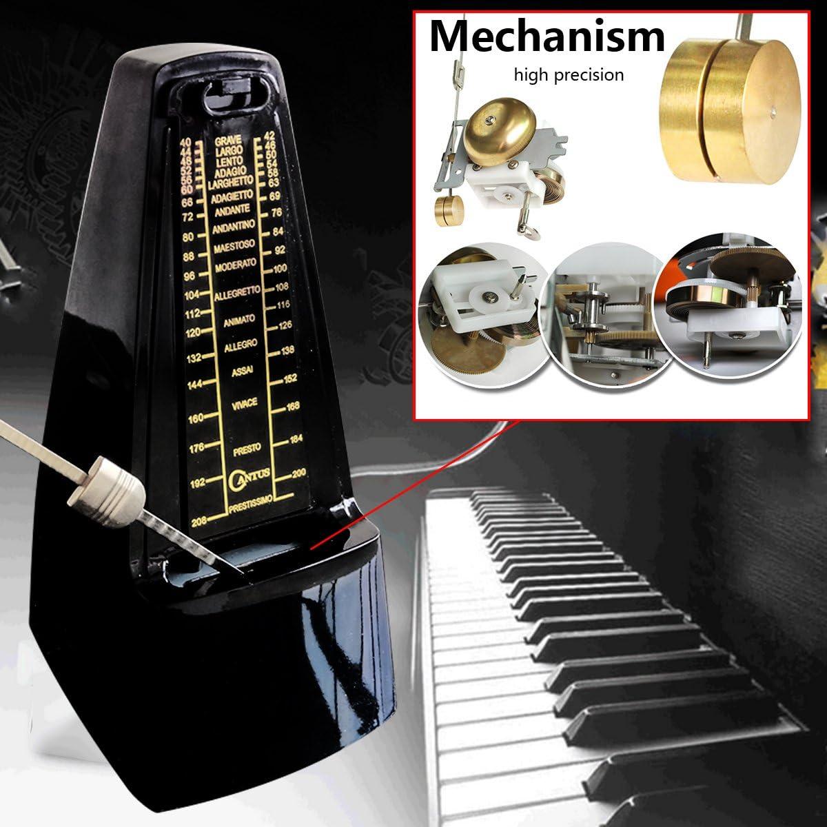 Metronomo meccanico suono forte pianoforte tamburo violino chitarra sassofono amaretto blu
