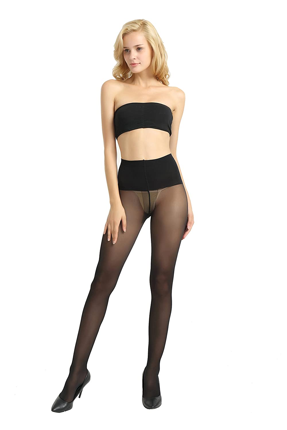 Alice & Belle Women 40 Den Pantyhose, Soft Tights with Sheer Toe
