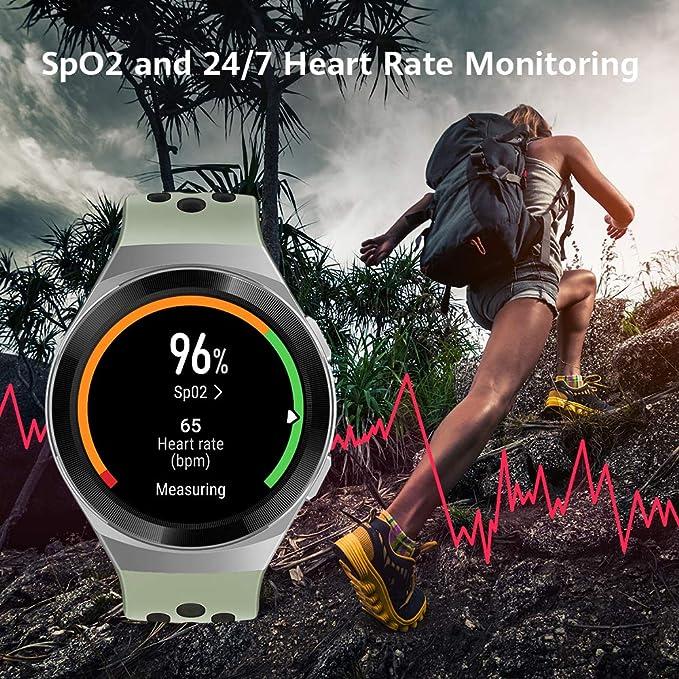 HUAWEI WATCH GT 2e Montre Connectée, Ecran Tactile AMOLED HD de 1.39 Pouces, Autonomie de 2 Semaines, GPS & GLONASS, Modes D'entrainement Personnalisés, VO2Max, Surveillance du Rythme Cardiaque, Noir