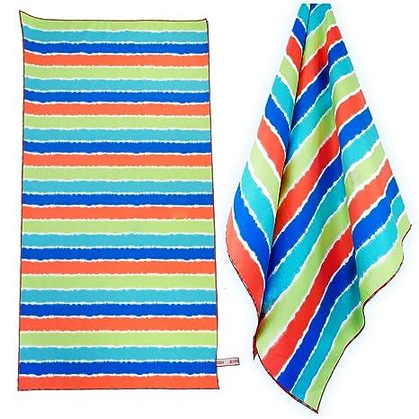 ZOMCHAIN Toalla de playa de microfibra para viaje, toalla de playa, toalla de piscina