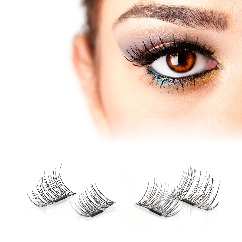 49fd36c38da Amazon.com: False Magnetic Eyelashes – No Glue, Mess-Free Reusable Lashes – Beautiful  Natural Enhanced Eyes, Volumized Lashes (1 Pair, 4 Pcs) (small, ...