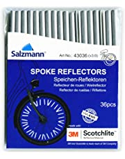 Salzmann 3M Scotchlite Spoke Reflector Bicycle Clips for all standard bike spokes - Pack of 36
