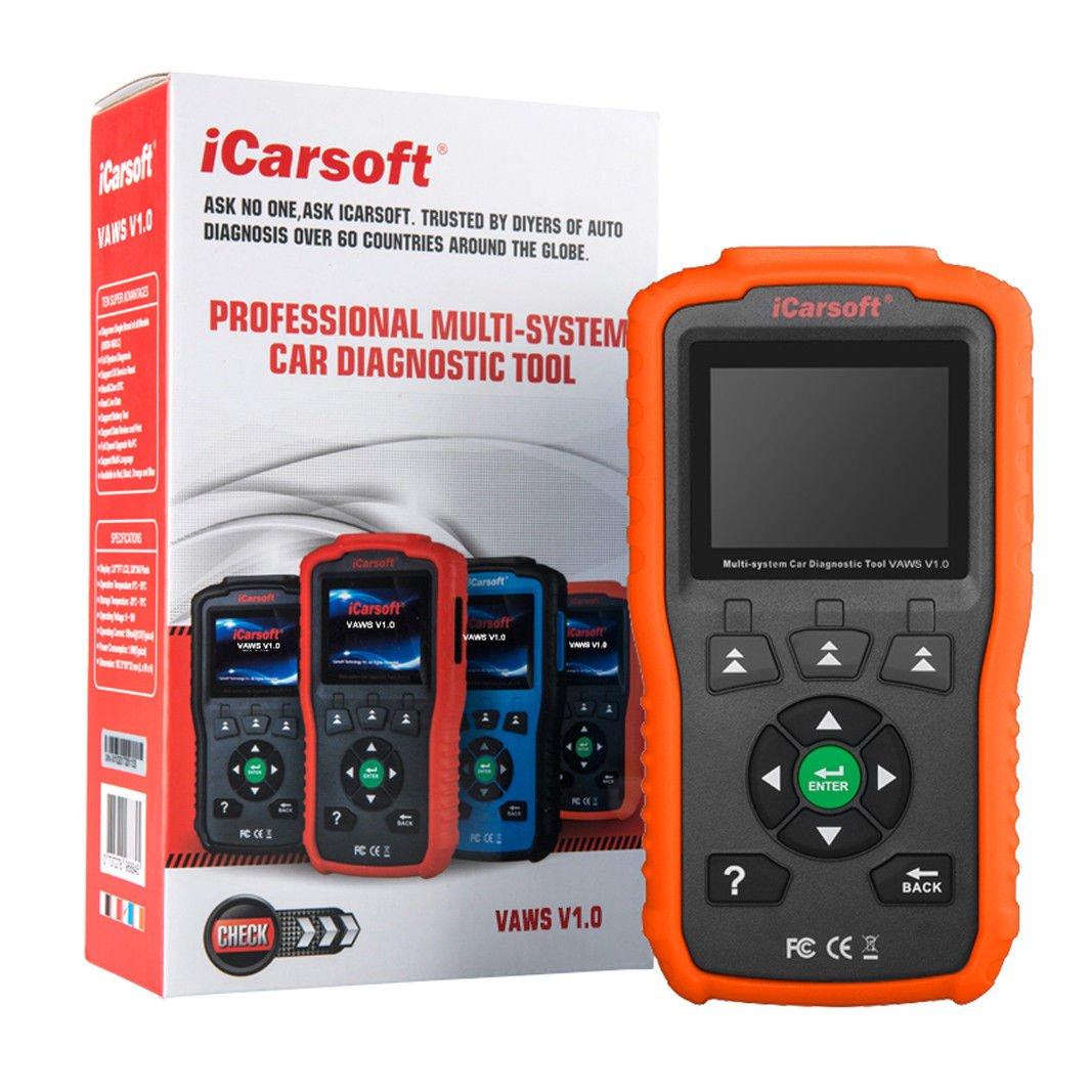 Blue iCarsoft Professional Multi-System OBD II Scanner VAWS V1.0 with Oil Service Reset for Audi//VW//Seat//Skoda