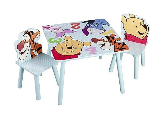Mesa infantil Winnie the Pooh Niños Niños Sillas mesa Set Parte ...
