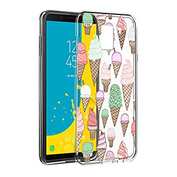 wholesale dealer d71ca 620ee Samsung Galaxy J6 2018 Case, Eouine Phone Case Transparent Clear with  Pattern [Ultra Slim] Shockproof Soft Gel TPU Silicone Back Cover Bumper  Skin for ...