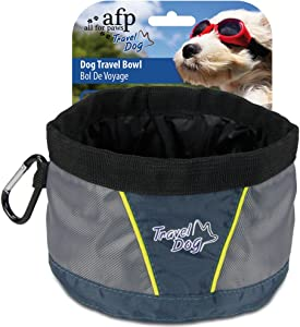 ALL FOR PAWS Collapsible Dog Bowl Dog Cat Pet Food Water Feeding Bowl Airline Approved Portable Pet Travel Accessories
