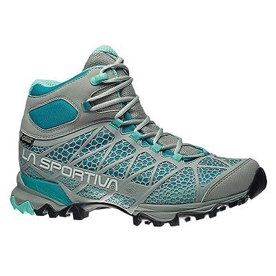 La Sportiva Women's Core High GTX Trail Hiking Boot, Grey/Mint, 37 M EU   Hiking Boots
