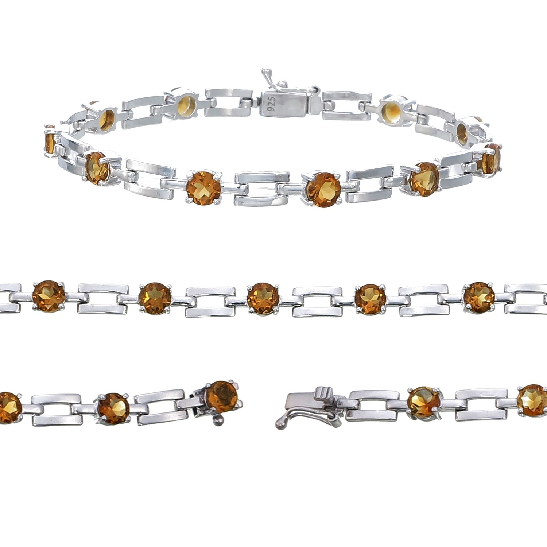 c6f4574a643b67 Amazon.com: Sterling Silver Citrine Bracelet (3.50 CT): Jewelry