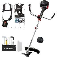 Arebos Premium benzine 2-in-1 grastrimmer | bosmaaier, 3 pk, 52 ccm met professioneel vest anti-vibratiesysteem en…